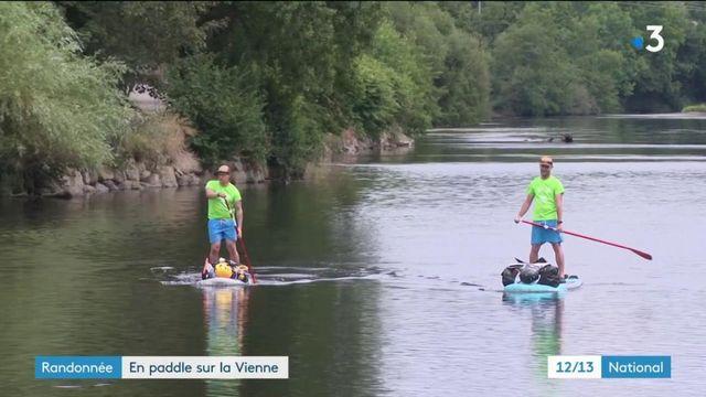 Randonnée : ils se lancent le défi fou de traverser la Vienne en paddle