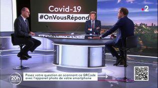 """Le Premier ministre Jean Castex sur le plateau du """"20 heures"""" de France 2 le 17 juillet 2020. (FRANCE 2)"""
