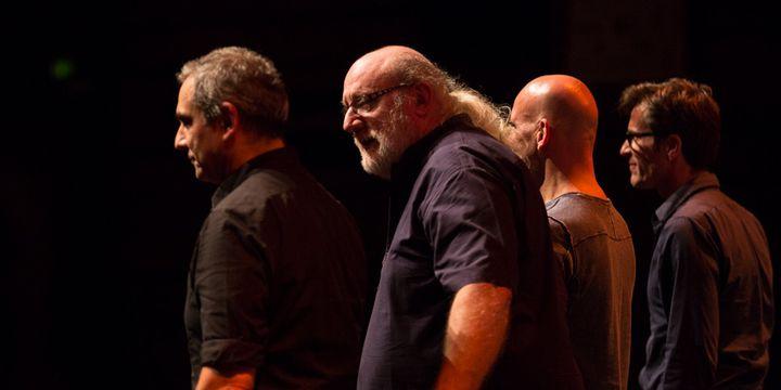 De gauche à droite : Claude Tchamitchian, Andy Emler, Marc Ducret, Éric Échampard  (Maxim François)