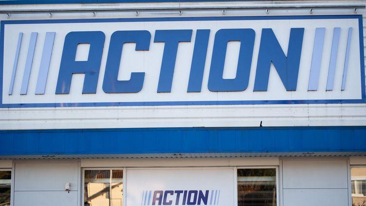 Un magasin de l'enseigne de hard discount Action à Périgueux (Dordogne), en novembre 2020. (ROMAIN LONGIERAS / HANS LUCAS)