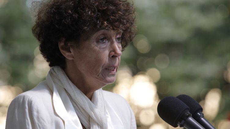 Françoise Rudetzki,fondatrice de SOS attentats SOS terrorisme, lors d'une commémoration aux Invalides à Paris, le 19 septembre 2012. (FRANCOIS MORI / POOL)