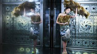 Le 3 février 2020,l'association Renaissancea présenté 35 tenues couture upcyclées, à l'Institut du Monde Arabe à Paris (Laurence Laborie)