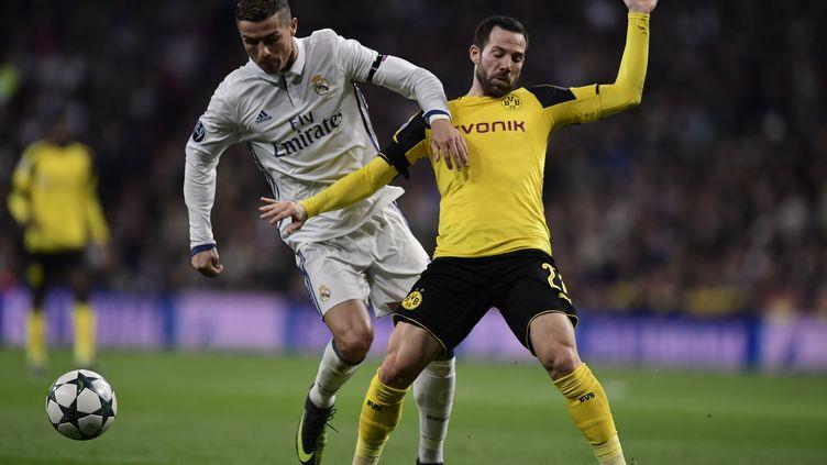 Ensemble dans le groupe H, le Real et Dortmund se sont rencontré à 10 reprises en Ligue des champions.  (JAVIER SORIANO / AFP)