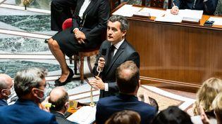 Le ministre de l'Intérieur, Gérald Darmanin, à l'Assemblée nationale, mardi 29 septembre 2020. (XOSE BOUZAS / HANS LUCAS / AFP)