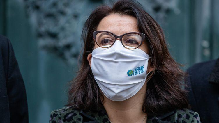 Cécile Duflot, la directrice générale de l'ONG Oxfam France, le14 janvier 2021. (AURELIEN MORISSARD / MAXPPP)