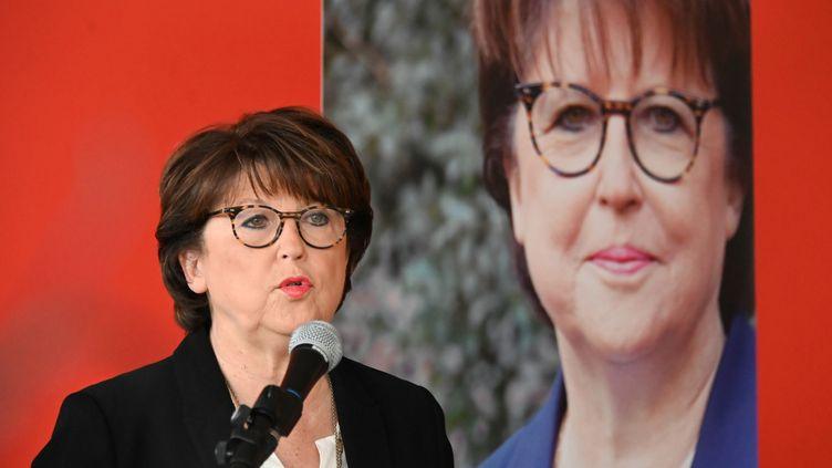 Martine Aubry, maire PS de Lille (Nord) et candidate à sa réelection, le 1er février 2020. (DENIS CHARLET / AFP)