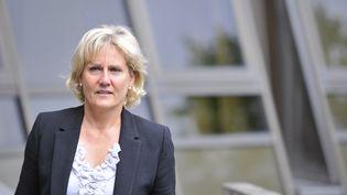 Nadine Morano arrive au tribunal de Nancy (Meurthe-et-Moselle), le 7 septembre 2015. (JEAN-CHRISTOPHE VERHAEGEN / AFP)