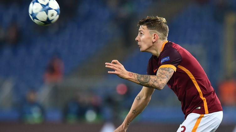 Lucas Digne, latéral gauche de l'AS Roma et l'équipe de France.