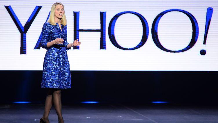 La PDG de Yahoo!, Marissa Mayer, le 7 janvier 2014 à Las Vegas (Nevada). (ETHAN MILLER / GETTY IMAGES NORTH AMERICA)