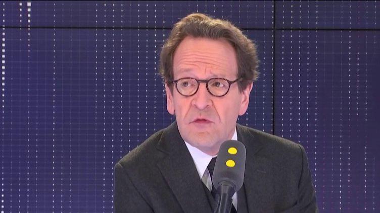 Le président du groupe LREM à l'Assemblée nationale, Gilles Le Gendre, invité de franceinfo le 27 mars 2019. (FRANCEINFO / RADIOFRANCE)