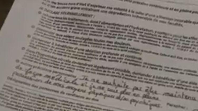 Seuls 13% des Français ont rédigé des directives anticipées. (FRANCE 2)