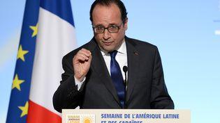 François Hollande prononce un discoursà l'Elysée, le 31 mai 2016. (REUTERS)