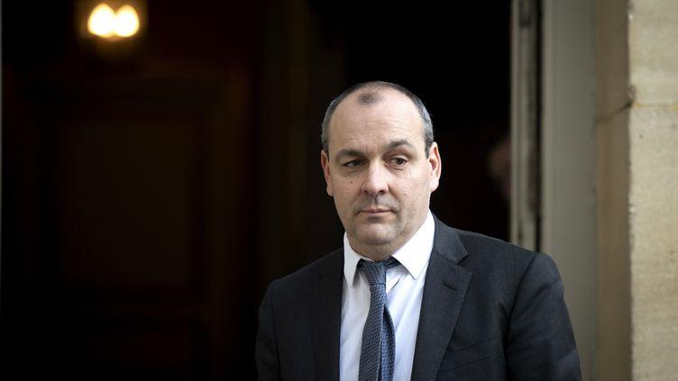 Le secrétaire général de la CFDT, Laurent Berger, à Matignon, le 10 janvier 2020. (ERIC TSCHAEN / REA)