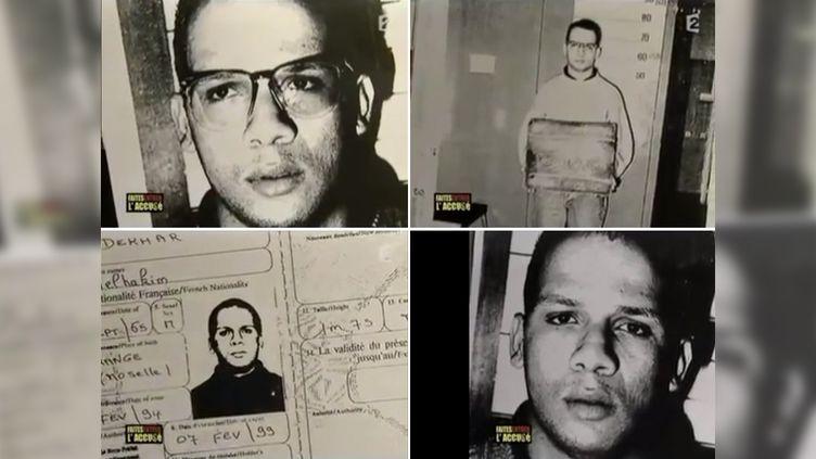 """Des photos d'Abdelhakim Dekhar dans les années 1990, diffusées dans un numéro de """"Faites entrer l'accusé"""", sur France 2,en 2003. (FRANCETV INFO)"""