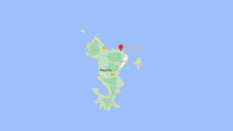 L'hôtel de ville de Koungou(Mayotte) a été la cible d'un incendie volontairele27 septembre 2021. (CAPTURE D'ECRAN GOOGLE MAPS)