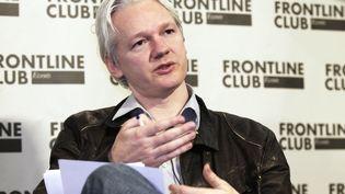 Julian Assange à une conférence de presse à Londres (Royaume-Uni)le 27 février 2012. (FINBARR O'REILLY / REUTERS)