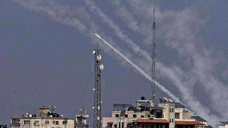 Depuis lundi 10 mai, plus de 1 000 roquettes ont été tirées de Gaza sur Israël (MAHMUD HAMS / AFP)