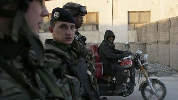Soldats français, le 31 décembre 2012 à Kaboul. Depuis, l'armée française a quitté l'Afghanistan. (Afp/Kenzo Tribouillard)