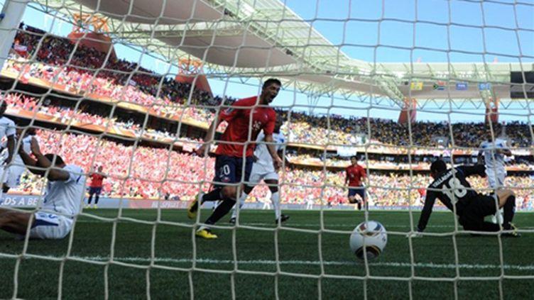 Le seul but chilien face au Honduras (PIERRE-PHILIPPE MARCOU / AFP)