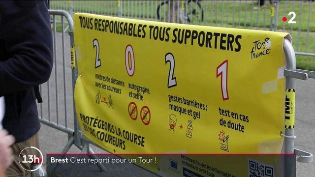 Tour de France : les coureurs de la Grande Boucle présentés à Brest avant le grand départ