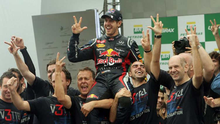 Sebastian Vettel au volant de sa Red Bull (ORLANDO KISSNER / AFP)