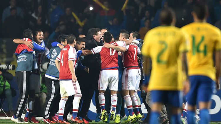 Les Paraguayens fêtent la qualification pour les demi-finales de la Copa America