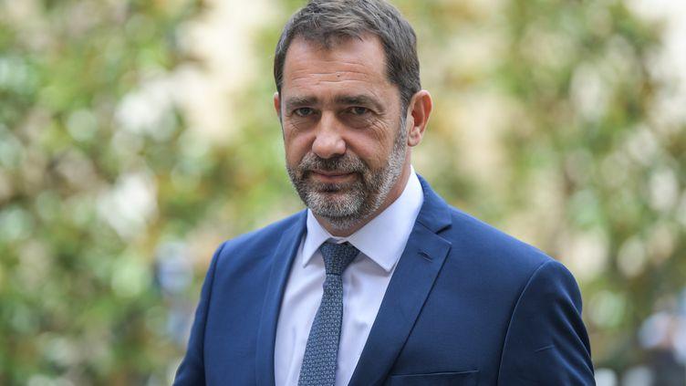 Le ministre de l'Intérieur Christophe Castaner, à Matignon, à Paris, le 3 septembre 2019. (ERIC FEFERBERG / AFP)