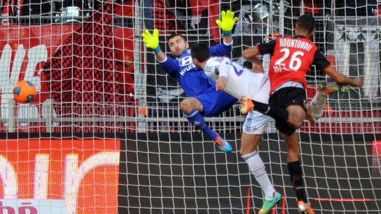 Hountondji ouvre la marque pour Rennes (FRANK PERRY / AFP)