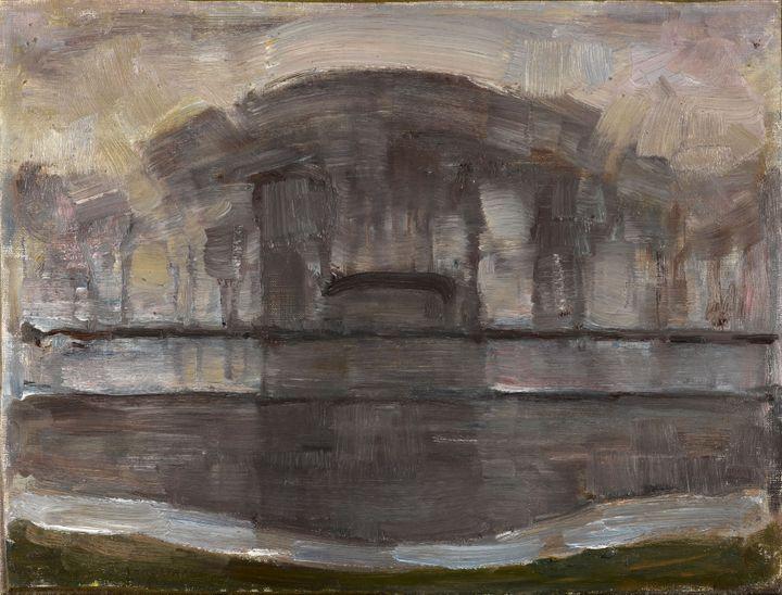 "Piet Mondrian,""La Ferme Geinrust dans la brume"",vers 1906-1907 (© Kunstmuseum Den Haag, The Hague, the Netherlands)"