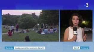 Le parc des Buttes-Chaumont à Paris ouvert la nuit (France 3)