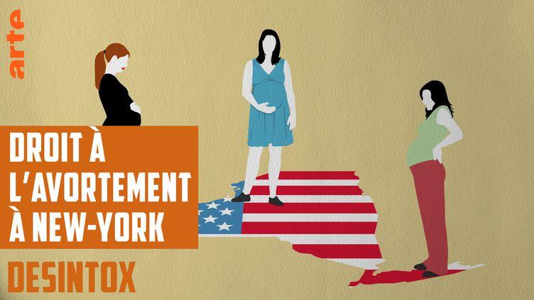 Désintox. Non, on ne peut pas avorter jusqu'à la naissance à New-York (ARTE/LIBÉRATION/2P2L)