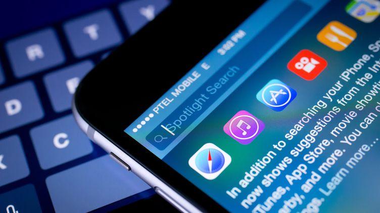 Le virus KeyRaiderfonctionne en interceptant les communications des iPhone et des iPad avec iTunes, la boutique de musique en ligne d'Apple. (FRANK DUENZL / PICTURE ALLIANCE / AFP)