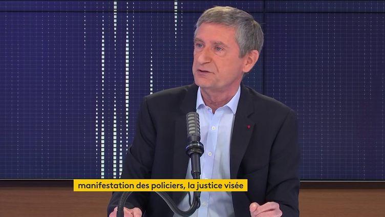 Frédéric Pechenard était l'invité de franceinfo dimanche 30 mai 2021. (FRANCEINFO / RADIOFRANCE)