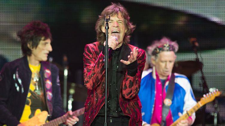 """Les Rolling Stones sur scène à Macau (Chine) le 9 mars 2014 dans le cadre de la tournée """"14 On Fire""""  (Zhang Boyi / ImagineChina / AFP)"""