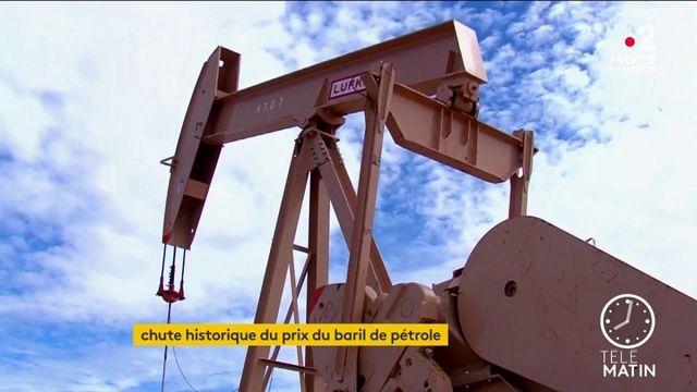 Coronavirus : chute historique du baril de pétrole américain