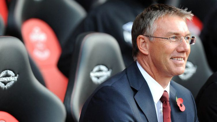 Nigel Adkins sur le banc de Southampton en 2012 (OLLY GREENWOOD / AFP)