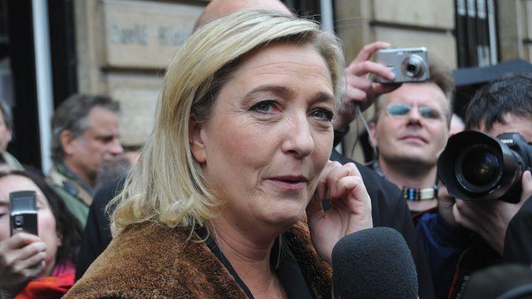 La présidente du Front national Marine Le Pen le 8 décembre 2011 à Paris. (CITIZENSIDE.COM)
