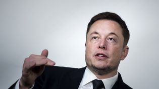 Elon Musk,le patron de Tesla,constructeur d'automobiles (BRENDAN SMIALOWSKI / AFP)