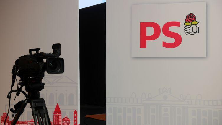 Le décor du congrès de Toulouse du Parti socialiste avant son ouverture, le 26 octobre 2012. (ERIC CABANIS / AFP)