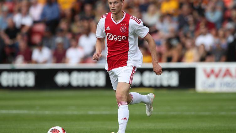 Frenkie De Jong avec l'Ajax Amsterdam lors d'un match amical contre Wolverhampton le 19 juillet 2018 (NICK POTTS / MAXPPP)