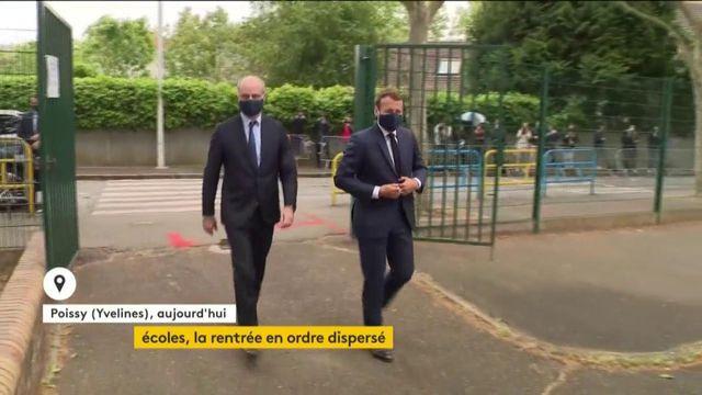 Coronavirus : Emmanuel Macron dans une école pour rassurer avant la rentrée
