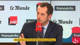 """Nicolas Bay, invité de """"Questions politiques"""" dimanche 13 octobre. (FRANCEINFO)"""