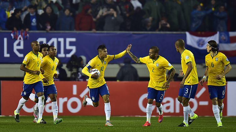 Neymar a permis au Brésil de ne pas chuter d'entrer dans la Copa America 2015 (RODRIGO BUENDIA / AFP)