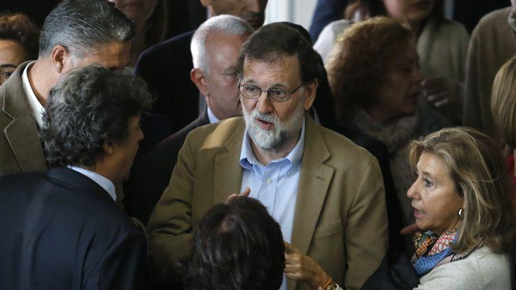 Mariano Rajoy est en visite à Barcelone (Espagne), le 12 novembre 2017. (PAU BARRENA / AFP)