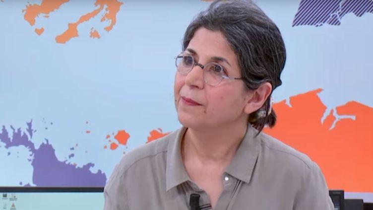 La chercheuse Fariba Adelkhah sur France 24 en février 2019. (FRANCE24)