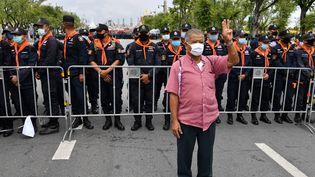 Manifestation antigouvernementale à Bangkok le 20 septembre 2020 (MLADEN ANTONOV / AFP)