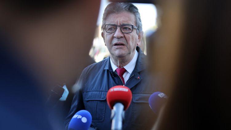 Jean-Luc Mélenchon, le chef de La France insoumise et candidat à l'élection présidentielle, à Paris, le 21 septembre 2021. (THOMAS COEX / AFP)