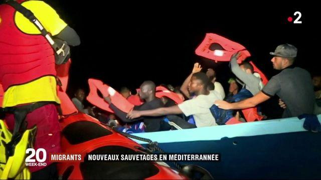 Migrants : nouveaux sauvetages en mer Méditerranée