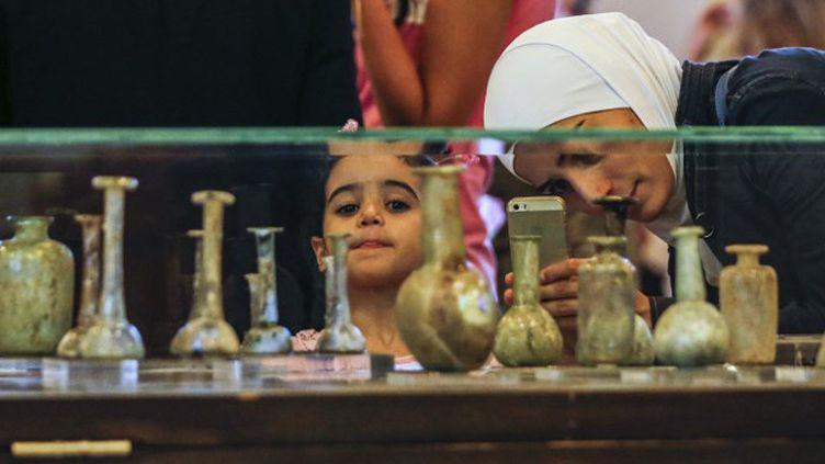 Damas : exposition archéologique en octobre 2018  (LOUAI BESHARA / AFP)