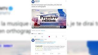 Tweet vidéo du reportage de BFM TV, le 4 décembre 2019, sur la cinquième édition du Baromètre Voltaire. (CAPTURE ECRAN TWITTER)